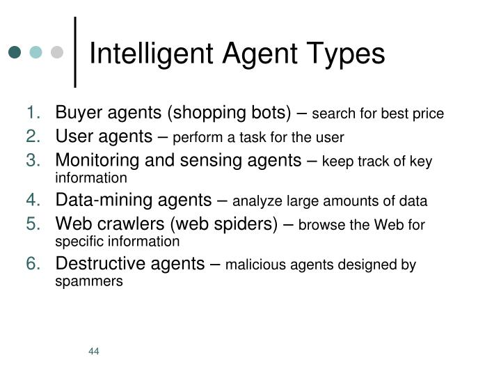 Intelligent Agent Types