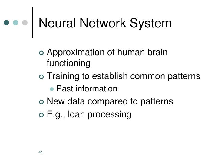 Neural Network System