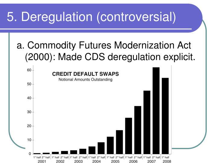 5. Deregulation (controversial)