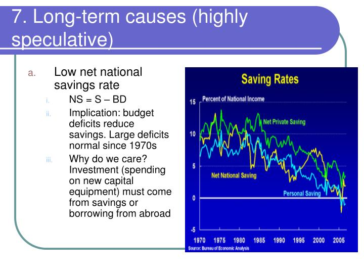 7. Long-term causes (highly speculative)