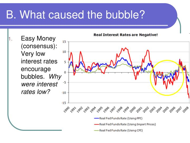 B. What caused the bubble?