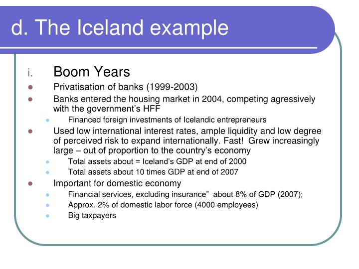 d. The Iceland example