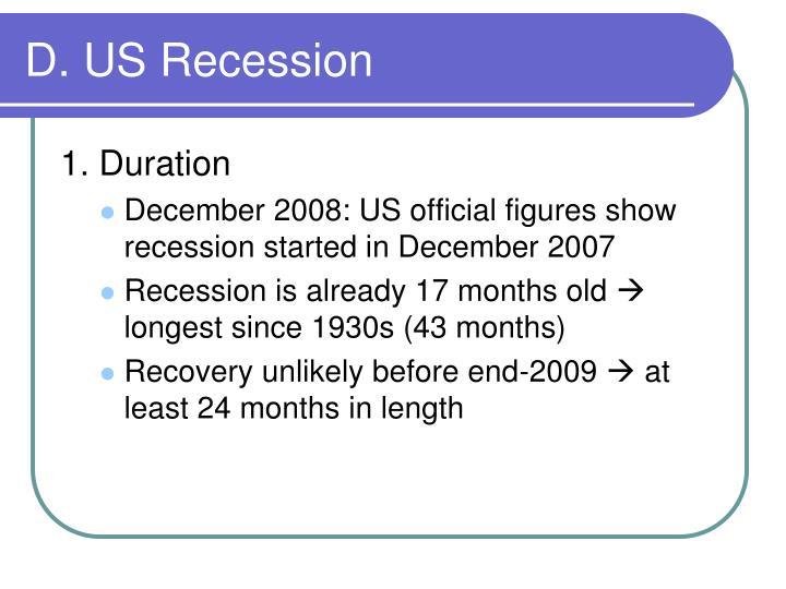 D. US Recession