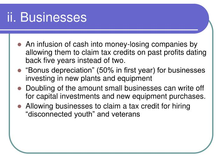 ii. Businesses