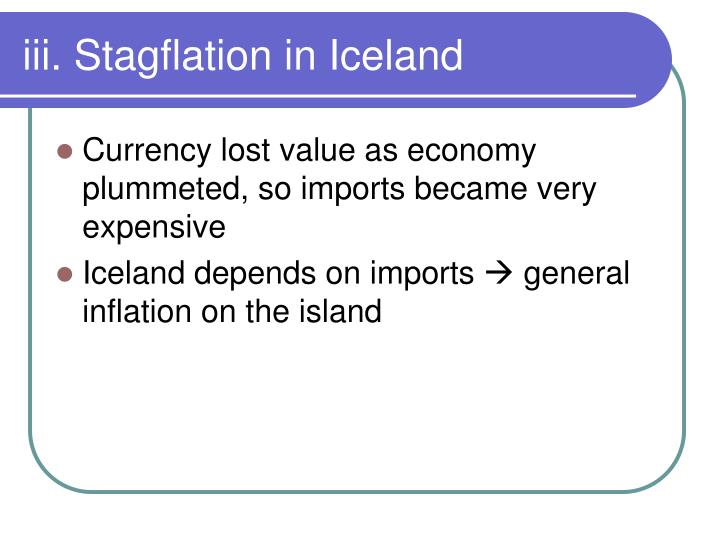 iii. Stagflation in Iceland