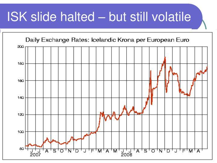 ISK slide halted – but still volatile