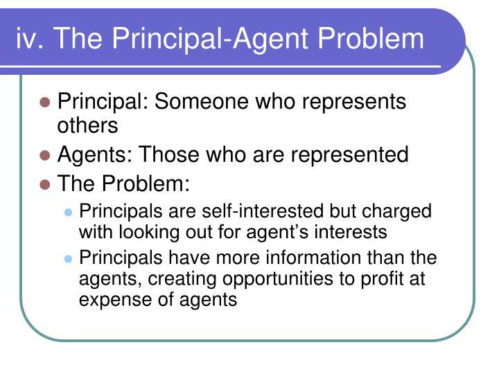iv. The Principal-Agent Problem