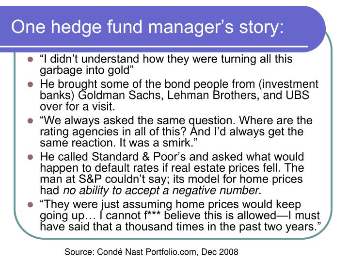 One hedge fund manager's story: