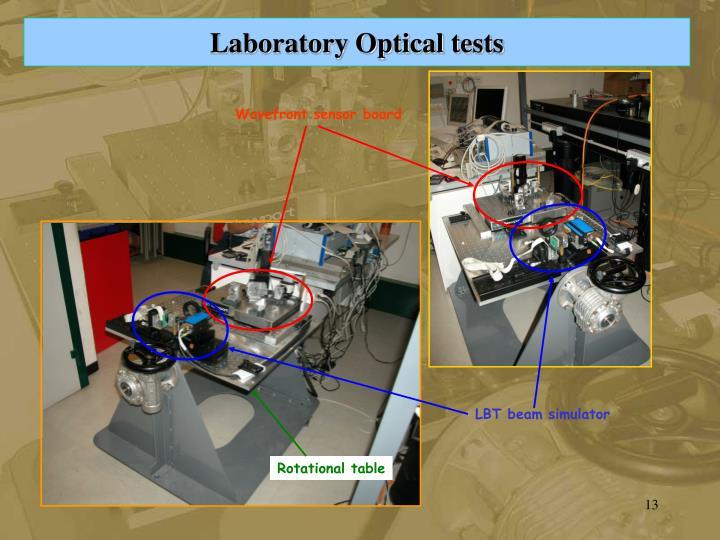 Laboratory Optical tests