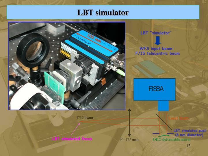 LBT simulated focus