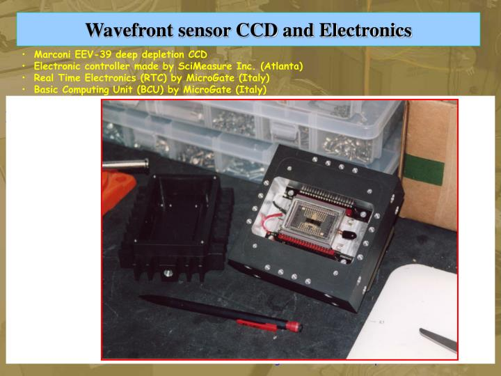 Wavefront sensor CCD and Electronics