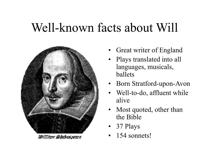 Well known facts about will