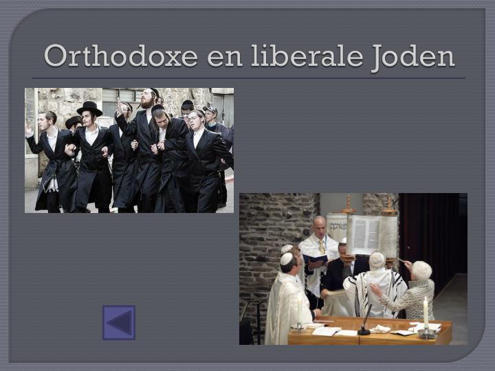 Orthodoxe en liberale Joden