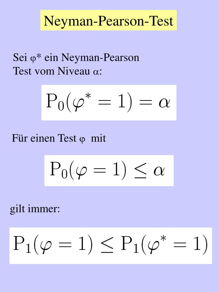 Neyman-Pearson-Test
