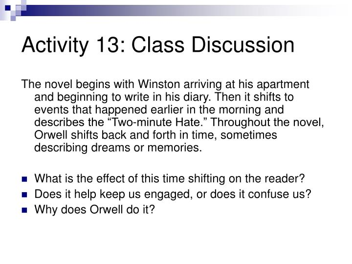 Activity 13: Class Discussion