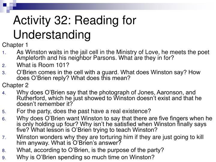 Activity 32: Reading for Understanding