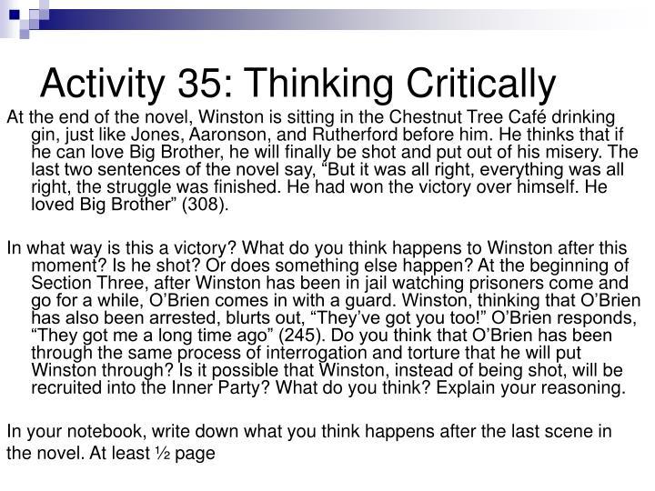 Activity 35: Thinking Critically