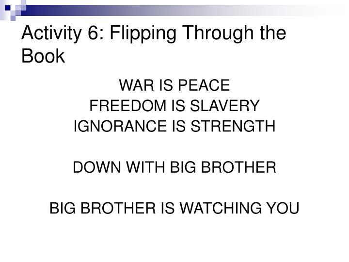 Activity 6: Flipping Through the Book