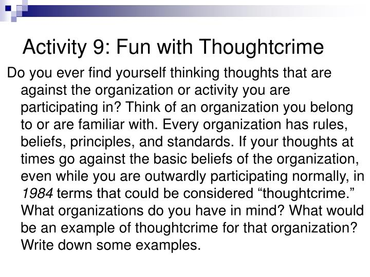 Activity 9: Fun with Thoughtcrime