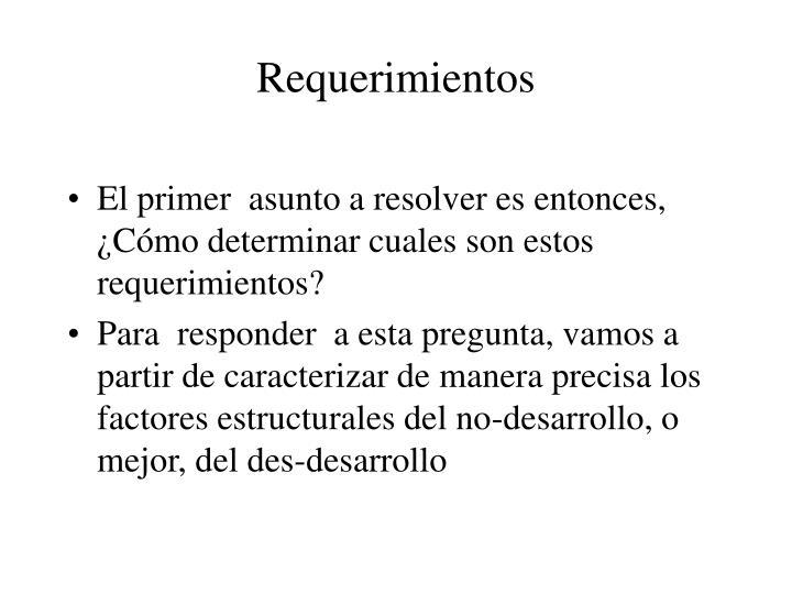 Requerimientos