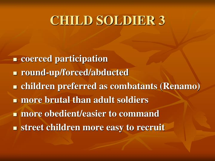 CHILD SOLDIER 3