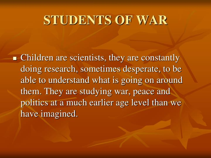 STUDENTS OF WAR