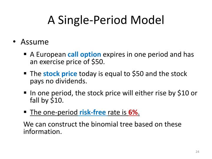 A Single-Period Model