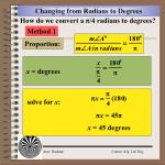changing from radians to degrees