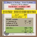 degrees to radians model problem