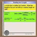 finding arc length