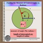 finding the measure of central angles in radians