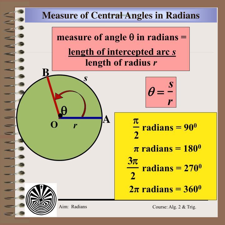 radians = 90