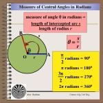 measure of central angles in radians