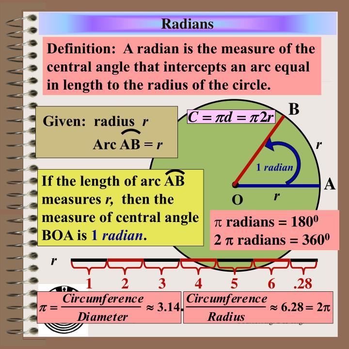 Given:  radius