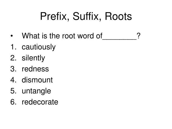Prefix, Suffix, Roots
