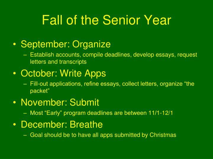 Fall of the Senior Year