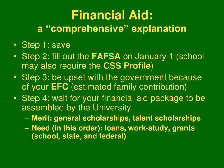 Financial Aid: