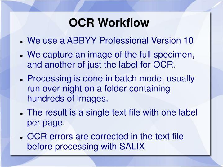 OCR Workflow