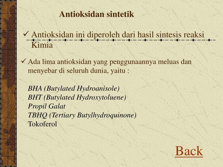 Antioksidan sintetik