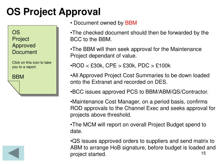 OS Project Approval