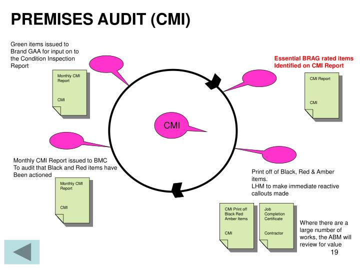 PREMISES AUDIT (CMI)
