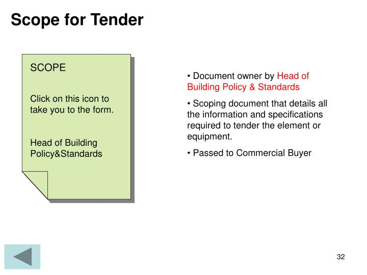 Scope for Tender