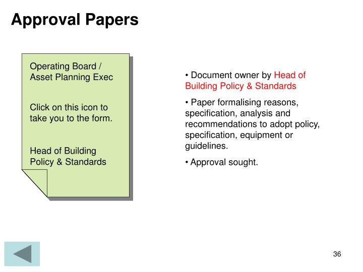 Approval Papers
