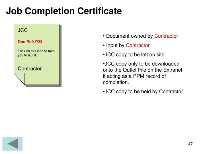 Job Completion Certificate