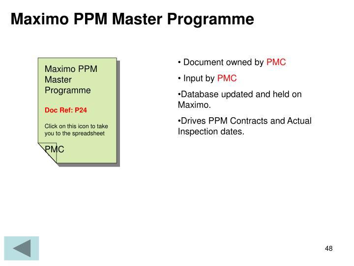 Maximo PPM Master Programme