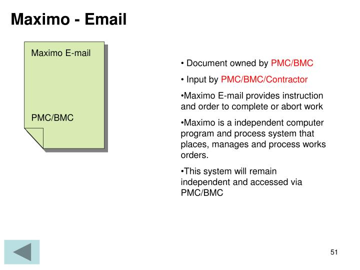 Maximo - Email