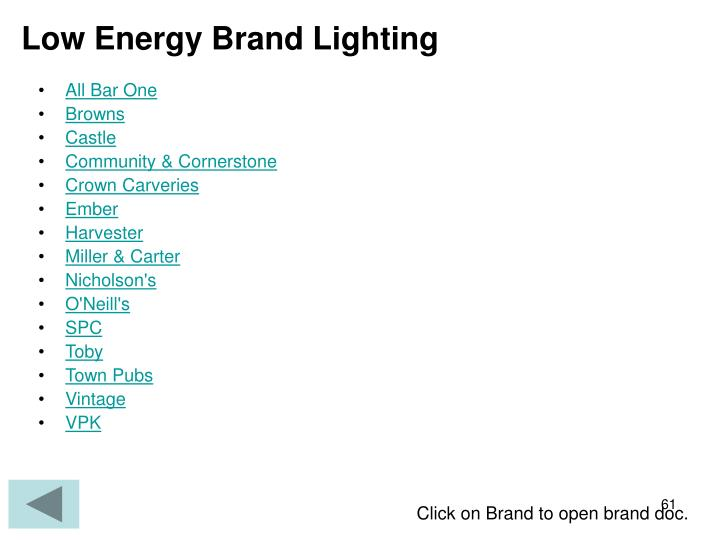 Low Energy Brand Lighting