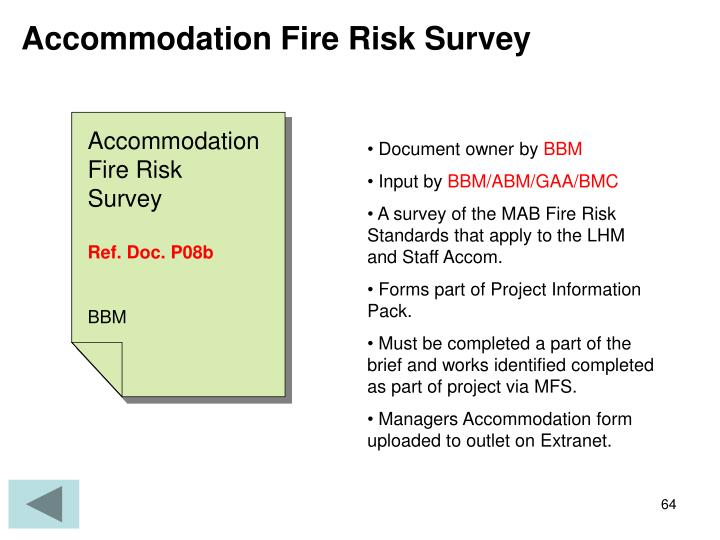 Accommodation Fire Risk Survey