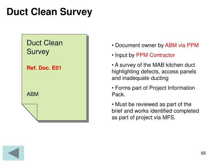 Duct Clean Survey