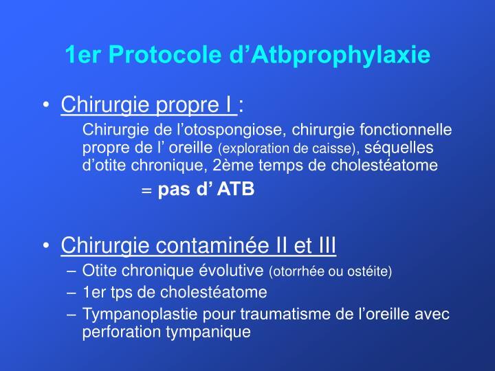 1er Protocole d'Atbprophylaxie